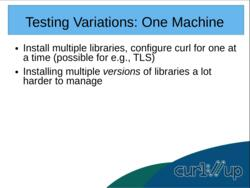 Containerized curl testing