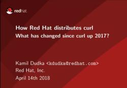 How Red Hat distributes curl