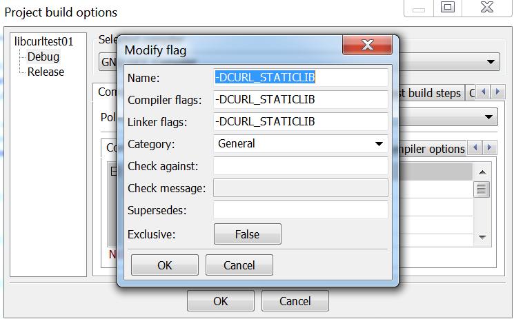 Curl: getting libcurl to run with C in codeblocks (mingw-32)